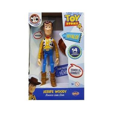 Boneco Woody Com Som Toy Story -Toyng 38191
