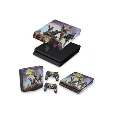 Capa Anti Poeira e Skin para PS4 Slim - Fortnite Battle Royale