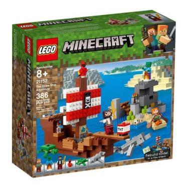 Lego Minecraft - Aventura No Navio Pirata - 21152