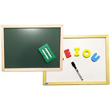 Imagem de Lousa Infantil, Cortiarte, 3 em 1, Magnética, Branca e Verde, 40x30 cm