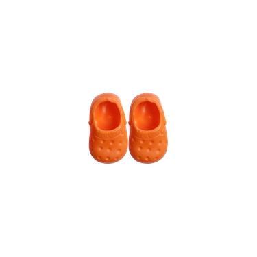 Imagem de Sapato para Boneca - Modelo Sport 7,5cm - Calça Bonecas tipo Adora Doll - Laranja - Laço de Fita