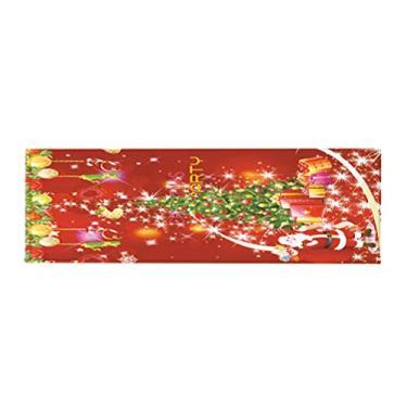 Imagem de BESPORTBLE, tapete de chão com padrão de tema natalino, antiderrapante resistente ao desgaste tapete para casa cozinha, banheiro 40 x 120 cm