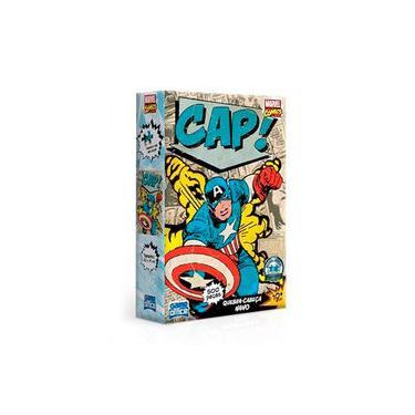 Imagem de Quebra-Cabeça Marvel Comics - Capitão América 500 Peças Nano