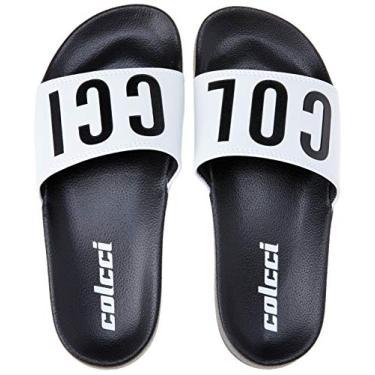 Sandália slide Logos Colcci Fun Masculino Preto 35-36