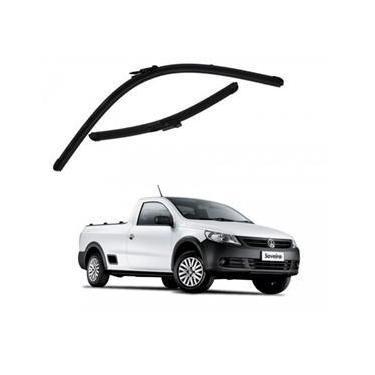 Kit Palhetas Limpador de Parabrisa Dianteiro VW Volkswagen Saveiro Ano 2013 - Atual