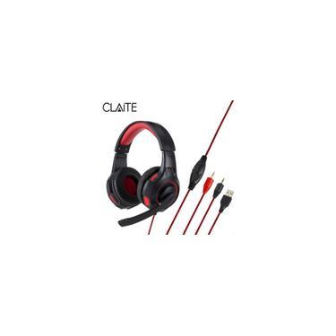 Fone de ouvido para jogos claite Super Bass com luz de respiração LED 3,5 mm Fone de ouvido com microfone hd para laptop pubg pc PS4