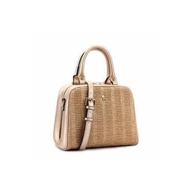 Bolsa Bliss Bag aplicação de Palha em Material Sintético