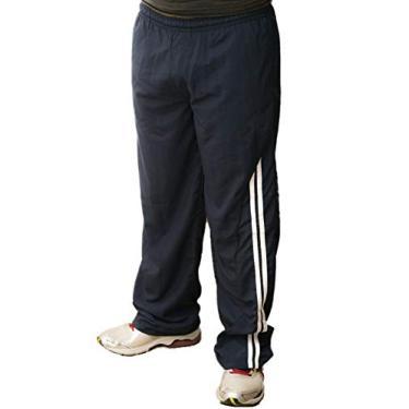 Calça masculina em Poliamida Fitness Tecido Leve, Macio, Respirável (M, Azul Marinho)