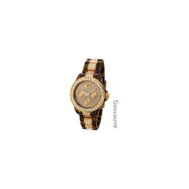 75011b2225f Relógio Ana Hickmann Ah30102g Marrom Conhaque