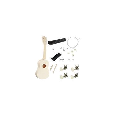 Imagem de 21 '' Ukulele Soprano Ukulele Kit Basswood White DIY Instrumento Musical