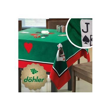 Imagem de Toalha de Mesa para jogo Aveludada Quadrada Poker Truco Cartas Baralho dominó Dohler 1,54 x 1,54
