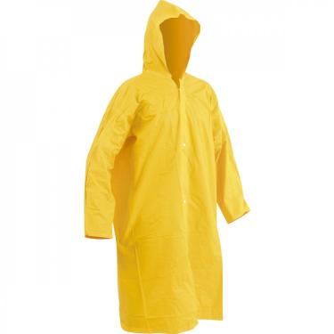 Capa para chuva de PVC laminado sem forro 110 m amarela G Vonder - caixa com 2 Unidade - Amarelo