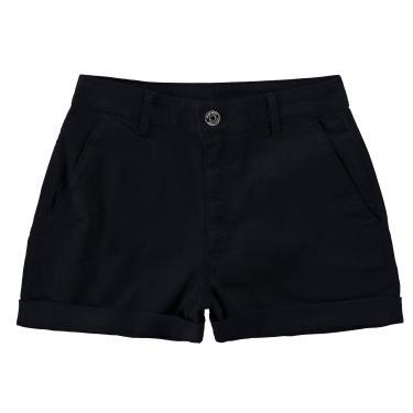Shorts Alfaiataria cintura alta, Malwee, Femenino, Preto, 34