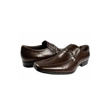 Sapato Democrata Sem Cadarço Marrom