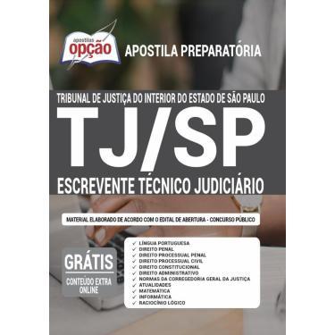 Imagem de Apostila Tj Sp Interior - Escrevente Técnico Judiciário