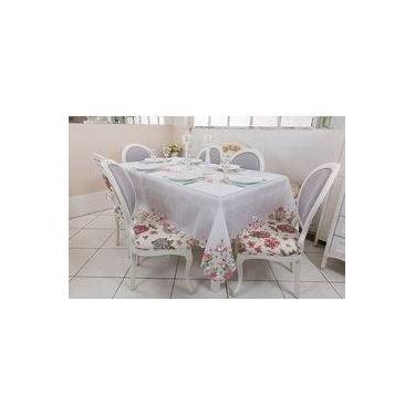 Imagem de Toalha de mesa - Quadrada - Jardim - 220 cm x 220 cm
