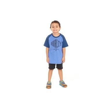 Camiseta Hurley Infantil 634832 Azul Claro