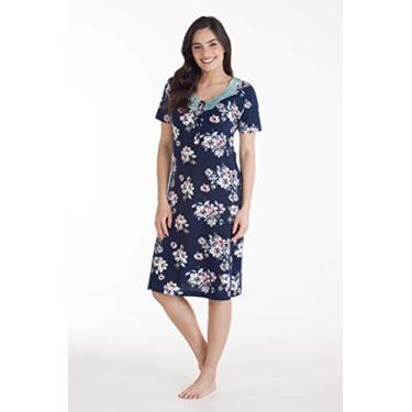 Camisola Malha Floral Com Abertura E Renda Podiun - 216039 (GG)