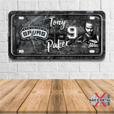 Imagem de Placa De Carro Decorativa Tema Nba -  San Antonio Spurs Tpaker Pdc-048