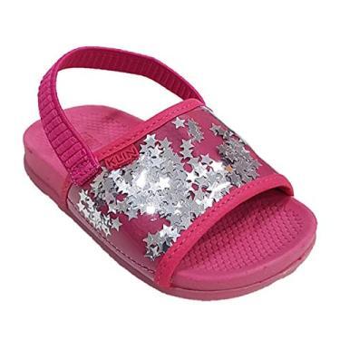 Chinelo Klin Infantil Summer Pink Estrelas