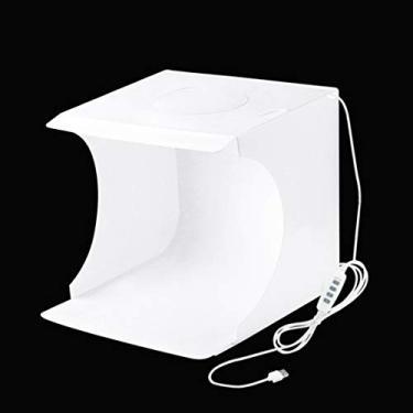 Lurrose Estúdio Fotográfico Portátil Caixa de Luz Anel de Luz Tiro Fotografia Tenda Booth Fundo Softbox Iluminação Kit Mesa Dobrável Profissional para O Telefone Branco