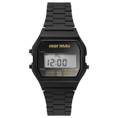 9b277792504 Relógio Feminino Mormaii Vintage Digital Mojh02aj 4p Preto