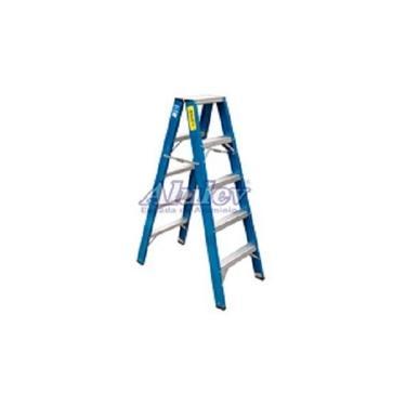 Escada Pintor Dupla Fibra 4,20 Metros Alulev Fp114 14 Degraus