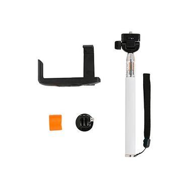 Monopod com Adaptador GoPro e Suporte para Smartphone Branco - Driftin