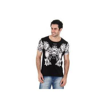 0784a03583 Camiseta Floral Masculina Metropolitan