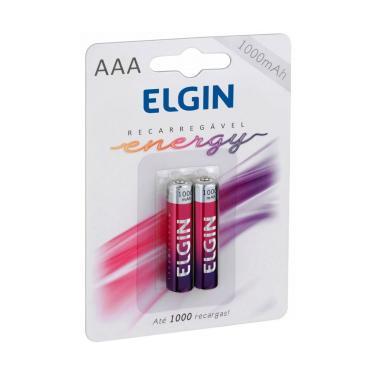 Pilha Recarregável AAA Elgin 82170 - 1000mAh - com 2 unidades
