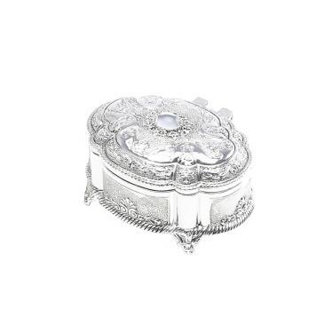 Porta-jóias oval em zamac Prestige 8,6cm