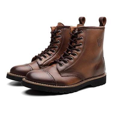 Bota Coturno Masculino London Couro Dia a Dia Black Boots Whisky 36