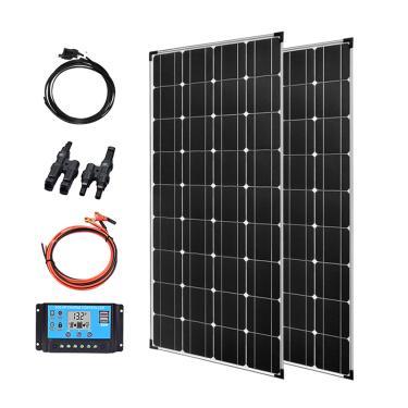 Kit de painel solar 240w 250w 12v 24v, placa fotovoltaica carregadora de célula 2x120w para casa rvs