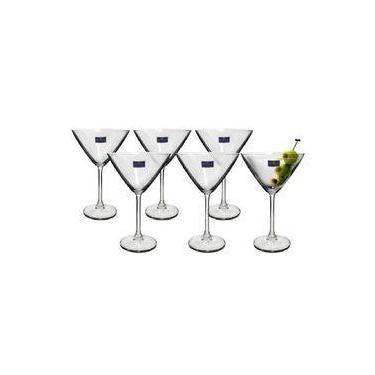 Taça Martini De Cristal Bohemia 280ml Jogo 6
