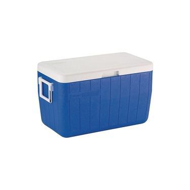 Imagem de Caixa Térmica Coleman Tampa Dupla Articulada 45.4 Litros Azul