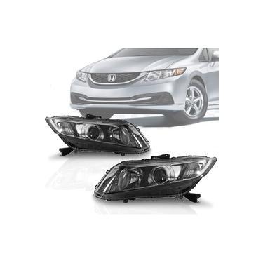 Par Farol Honda Civic 2012 2013 2014 2015 12 13 14 15