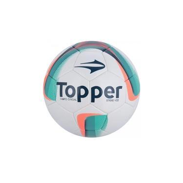 Bola de Futebol de Campo - Strike VIII - Costurado - Branco/Azul/Rosa- Topper