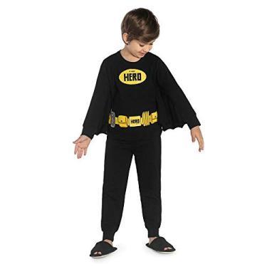 Pijama Infantil Masculino Hero Rovitex Kids Preto 2
