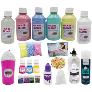 Imagem de Kit Para Fazer Slime Completo Muitos Itens - Ine Slime