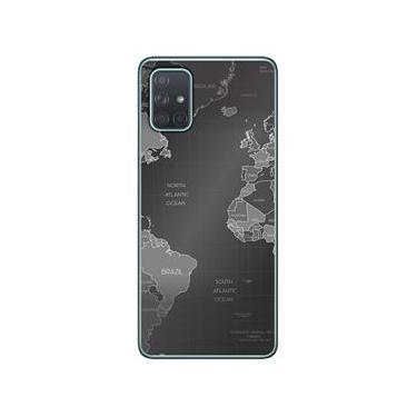 Capa Personalizada Samsung Galaxy A71 A715 - Mapa Mundi - MC01