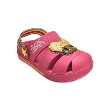 Sandália Infantil LOL Surprise! Hype Rosa/Amarelo