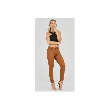 Calça Jeans Express Skinny Alice Color Mostarda