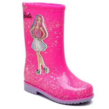 Imagem de Bota Galocha Infantil Barbie Grendene Rosa/Lilás Grendene Rosa  feminino