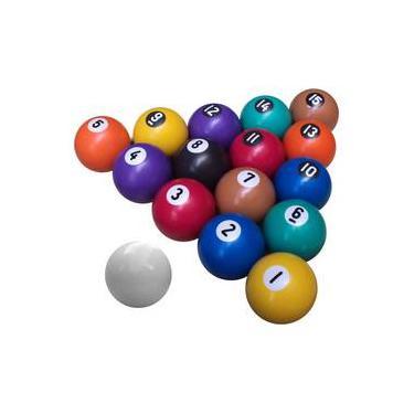 Bola De Sinuca Bilhar Numerada 54 Mm Com 16 Peças Bilharmais 3b0d1dd1a2bec