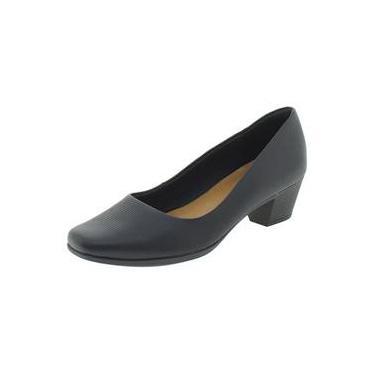 Sapato Feminino Salto Baixo Usaflex - Aa2801 Preto