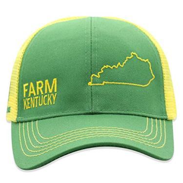 John Deere Boné infantil de malha com parte de trás do estado do orgulho da fazenda, Kentucky, tamanho �nico