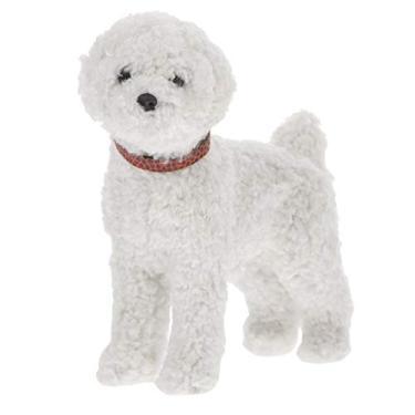 Imagem de STOBOK Cachorrinho de Pelúcia Animal de Pelúcia Cachorro Realista Cão de Pelúcia Cachorrinho de Pelúcia Brinquedos de Pelúcia Presente para Animais de Estimação Branco