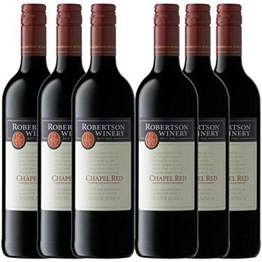 Kit 6 Vinho Tinto Sul-Africano Robertson Cabernet Sauvignon/Merlot 2017