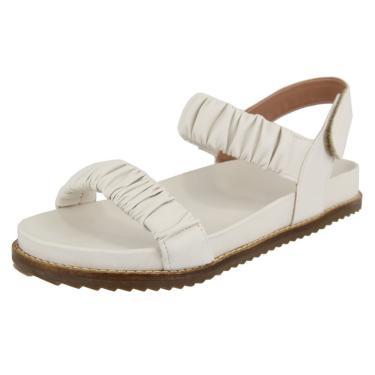 Imagem de Sandália Birken Papete Rasteira Off White Kuento Shoes  feminino