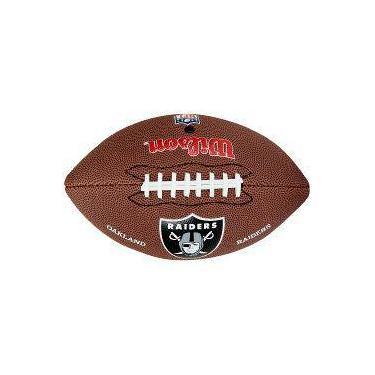 Bola De Futebol Americano Wilson Nfl Team Logo Jr Oakland Raiders 6a2454e4cf436